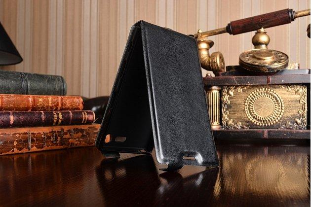 """Фирменный оригинальный вертикальный откидной чехол-флип для Sony Xperia X Compact 4.6"""" ( F5321/ F5321RU) черный из натуральной кожи Prestige"""