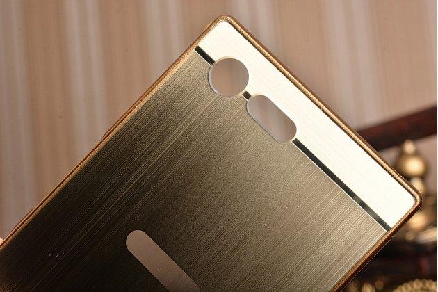 """Фирменная металлическая задняя панель-крышка-накладка из тончайшего облегченного авиационного алюминия для Sony Xperia X Compact 4.6"""" ( F5321/ F5321RU) золотая"""