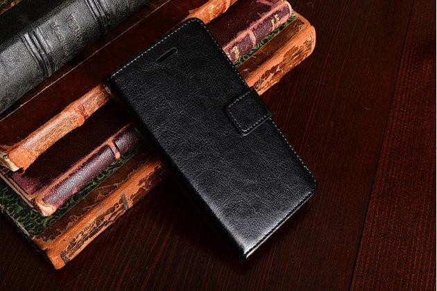"""Фирменный чехол-книжка  из качественной импортной кожи с застёжкой и мультиподставкой для Sony Xperia X Compact 4.6"""" ( F5321/ F5321RU) черный"""