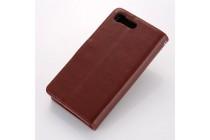 """Фирменный чехол-книжка  из качественной импортной кожи с застёжкой и мультиподставкой для Sony Xperia X Compact 4.6"""" ( F5321/ F5321RU) коричневый"""