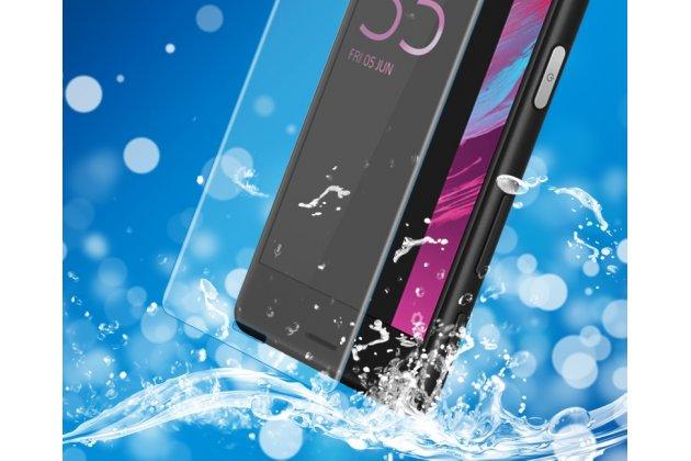 Фирменная оригинальная 3D защитная пленка с закругленными краями которое полностью закрывает экран для телефона Sony Xperia X Performance/ X Performance Dual глянцевая