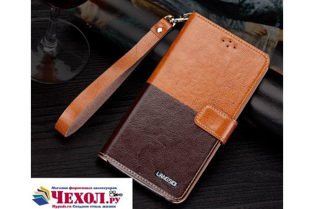 Фирменный чехол-книжка из качественной импортной кожи с подставкой застёжкой и визитницей для Sony Xperia X Performance/ X Performance Dual коричневый