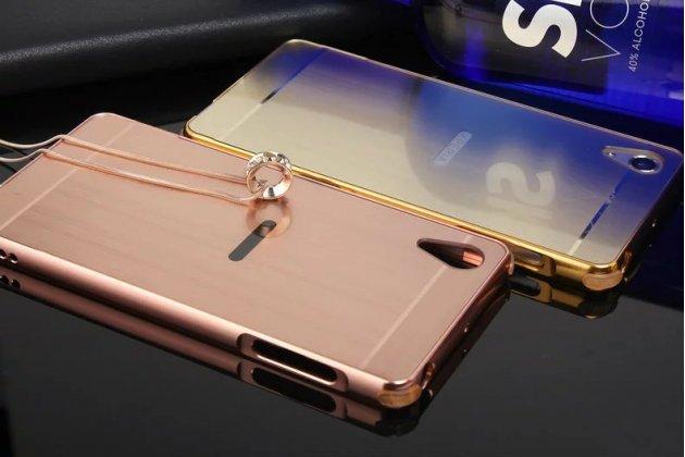 Фирменная металлическая задняя панель-крышка-накладка из тончайшего облегченного авиационного алюминия для Sony Xperia X Performance/ X Performance Dual розовое золото