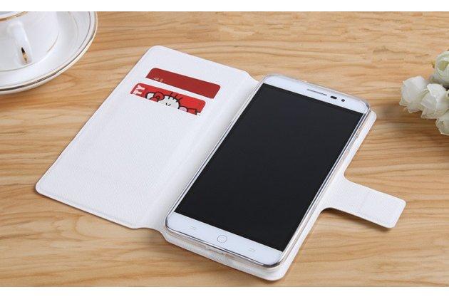 "Фирменный чехол-книжка с подставкой застёжкой и визитницей для Sony Xperia X / X Dual 5.0"" (F5121 / F5122) с изображением ""Цветок"""