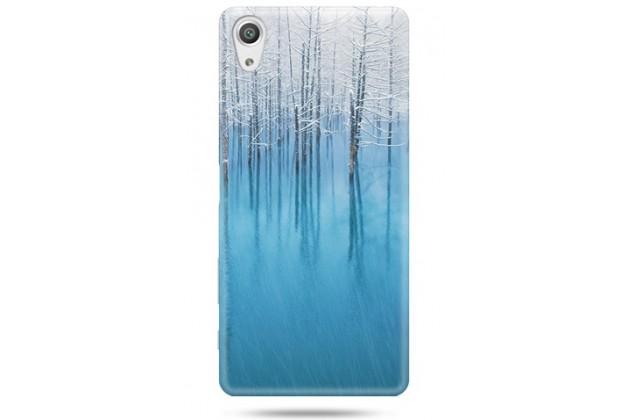 """Фирменная задняя панель-крышка-накладка из тончайшего и прочного пластика для Sony Xperia X / X Dual 5.0"""" (F5121 / F5122) с изображением """"Деревья в снегу"""""""