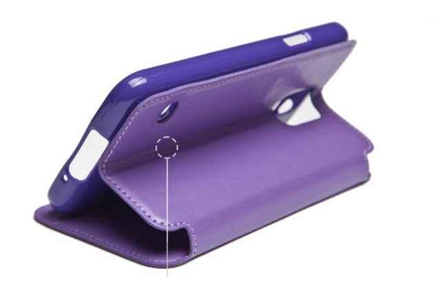 """Фирменный оригинальный чехол-книжка для Sony Xperia X / X Dual 5.0"""" (F5121 / F5122) коричневый с окошком для входящих вызовов водоотталкивающий"""