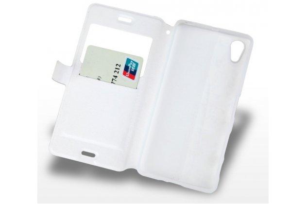 """Фирменный чехол-книжка с подставкой застёжкой и визитницей для Sony Xperia X / X Dual 5.0"""" (F5121 / F5122) с изображением """"Сказочный олень"""""""