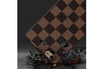 """Фирменная ультра-тонкая полимерная из мягкого качественного силикона задняя панель-чехол-накладка для Sony Xperia X / X Dual 5.0"""" (F5121 / F5122) в клетку коричневая"""