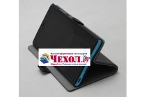 """Фирменный чехол-книжка  из качественной импортной кожи с застёжкой и мультиподставкой для Sony Xperia X / X Dual 5.0"""" (F5121 / F5122) черный"""