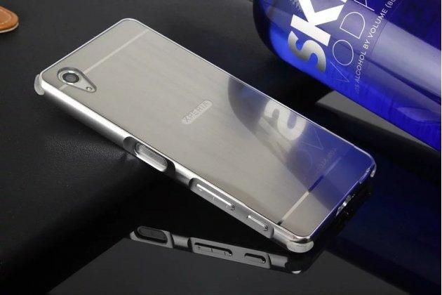 """Фирменная металлическая задняя панель-крышка-накладка из тончайшего облегченного авиационного алюминия для Sony Xperia X / X Dual 5.0"""" (F5121 / F5122) серебристая"""