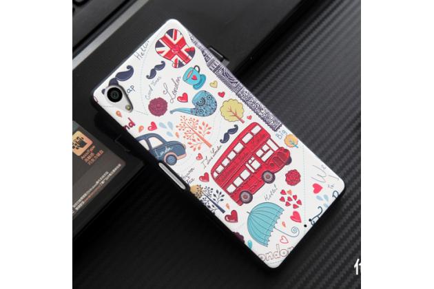 """Фирменная роскошная задняя панель-чехол-накладка из мягкого силикона с объемным 3D изображением на Sony Xperia X / X Dual 5.0"""" (F5121 / F5122) с безумно красивым рисунком """"Лондон"""""""