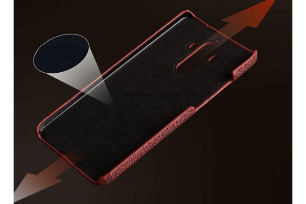 """Фирменная элегантная экзотическая задняя панель-крышка с фактурной отделкой натуральной кожи крокодила синего цвета для Sony Xperia X / X Dual 5.0"""" (F5121 / F5122). Только в нашем магазине. Количество ограничено."""