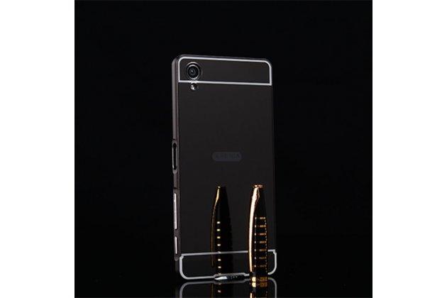 """Фирменная металлическая задняя панель-крышка-накладка из тончайшего облегченного авиационного алюминия для Sony Xperia X / X Dual 5.0"""" (F5121 / F5122) черная"""