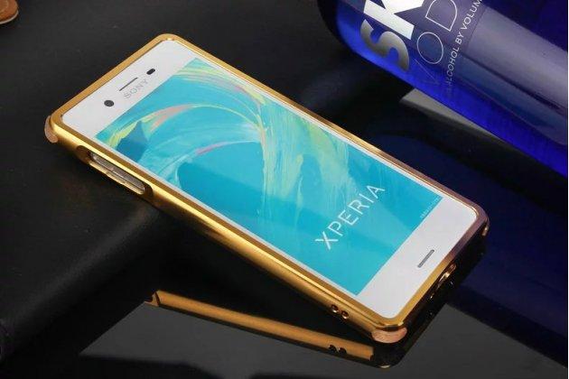 """Фирменная металлическая задняя панель-крышка-накладка из тончайшего облегченного авиационного алюминия для Sony Xperia X / X Dual 5.0"""" (F5121 / F5122) золотая"""