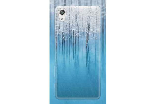 """Фирменная задняя панель-крышка-накладка из тончайшего и прочного пластика для Sony Xperia XA / XA Dual 5.0"""" (F3113/ F3112 / F3115 /E6533) с изображением """"Деревья в снегу"""""""
