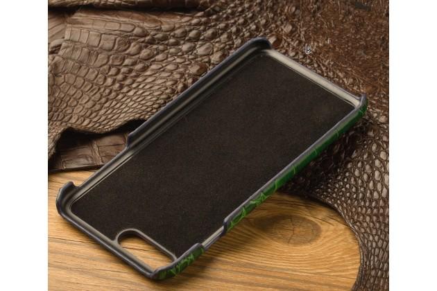 """Фирменная роскошная элитная премиальная задняя панель-крышка на пластиковой основе обтянутая лаковой кожей крокодила  для Sony Xperia XA / XA Dual 5.0"""" (F3113/ F3112 / F3115 /E6533) черная"""