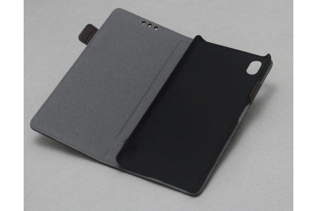 """Фирменный чехол-книжка из качественной импортной кожи с подставкой и застёжкой для Sony Xperia XA / XA Dual 5.0"""" (F3113/ F3112 / F3115 /E6533) бежевый"""