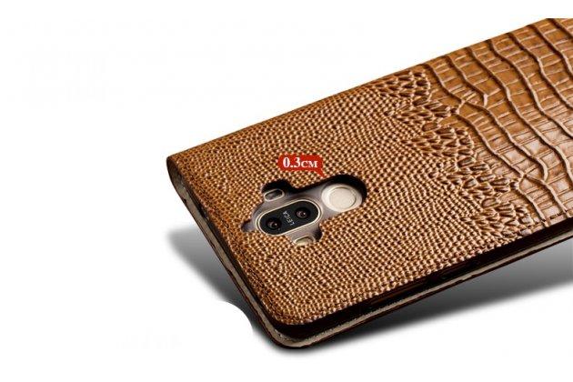 """Фирменный роскошный эксклюзивный чехол с объёмным 3D изображением рельефа кожи крокодила коричневый для Sony Xperia XA / XA Dual 5.0"""" (F3113/ F3112 / F3115 /E6533). Только в нашем магазине. Количество ограничено"""