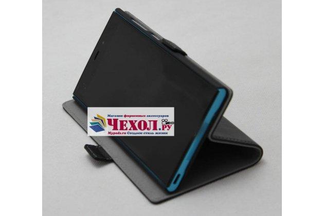 """Фирменный чехол-книжка из качественной импортной кожи с подставкой и застёжкой для Sony Xperia XA / XA Dual 5.0"""" (F3113/ F3112 / F3115 /E6533) черный"""