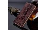 Фирменный роскошный эксклюзивный чехол с объёмным 3D изображением кожи крокодила цвет красное вино для Sony Xperia XA1 5.0 (G3116 / 3112) . Только в нашем магазине. Количество ограничено