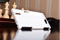 Противоударный усиленный ударопрочный фирменный чехол-бампер-пенал для Sony Xperia XZ/XZs/ XZ Dual 5.2 (F8331 / F8332) белый