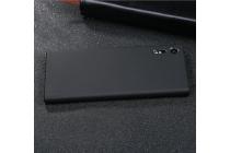 Фирменная задняя панель-крышка-накладка из тончайшего и прочного пластика для Sony Xperia XZ/ XZs/ XZ Dual 5.2 (F8331 / F8332) черная