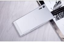 Фирменная задняя панель-чехол-накладка с защитными заглушками с защитой боковых кнопок для Sony Xperia XZ/XZs/ XZ Dual 5.2 (F8331 / F8332) прозрачная