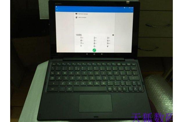 Фирменная оригинальная съемная клавиатура/док-станция/база для планшета Sony Xperia Z4 Tablet SGP712/SGP771 10.1 черного цвета + гарантия + русские клавиши