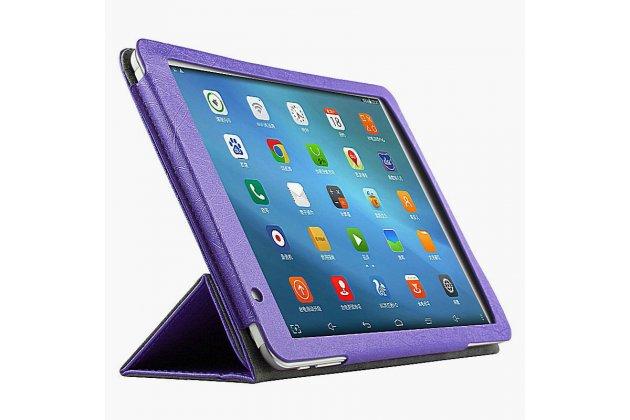 Фирменный чехол-футляр-книжка для Teclast P98 4G Octa Core фиолетовый кожаный