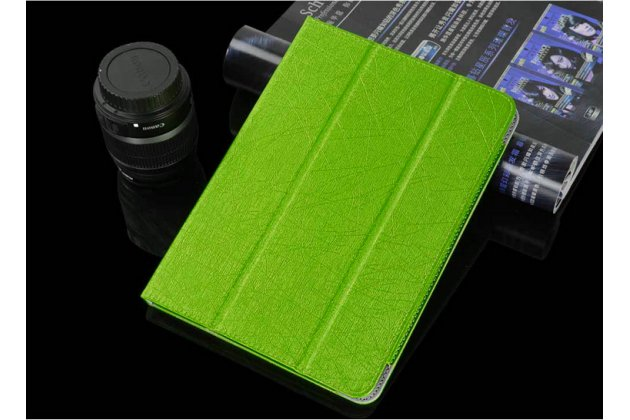 Фирменный чехол-футляр-книжка для Teclast P98 4G Octa Core зеленый кожаный