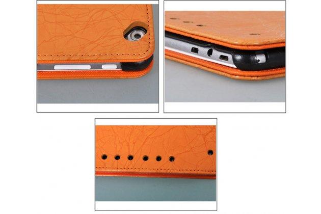Фирменный чехол закрытого типа с красивым узором для планшета Teclast P98 4G Octa Core с держателем для руки зеленый натуральная кожа Prestige Италия