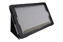 Фирменный чехол-обложка с подставкой для Teclast Tbook 16 Power / 16s черный кожаный