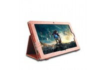 Фирменный чехол-обложка с подставкой для Teclast Tbook 16 Power / 16s коричневый кожаный
