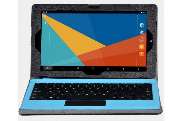 Фирменный оригинальный чехол для Teclast Tbook 16 Power / 16s с отделением под клавиатуру черный кожаный