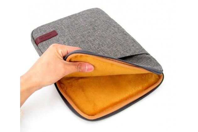 Чехол-сумка-бокс для Teclast X3 Pro с отделением для дополнительных аксессуаров из высококачественного материала серый