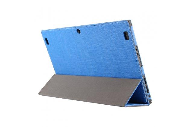 Фирменный чехол-футляр-книжка для Teclast X3 Pro синий водоотталкивающий