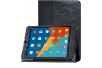 Фирменный чехол закрытого типа с красивым узором для планшета Teclast X89 Kindow  с держателем для руки черный натуральная кожа  Италия