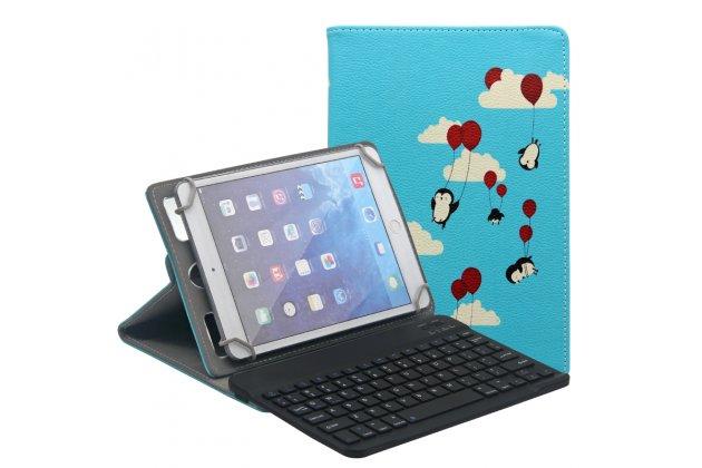 Чехол для планшета Teclast X89 Kindow поворотный роторный оборотный Тематика Летающие пингвины кожаный