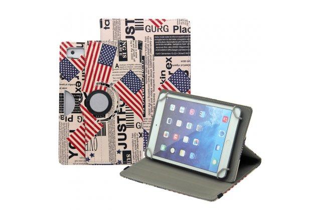 Чехол для планшета Teclast X89 Kindow поворотный роторный оборотный Тематика USA кожаный
