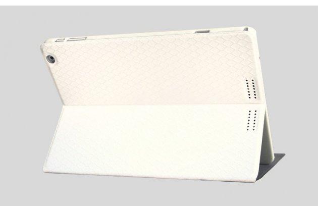 Фирменный чехол-футляр-книжка для Teclast X98 Air III/Teclast X98 Plus белый кожаный