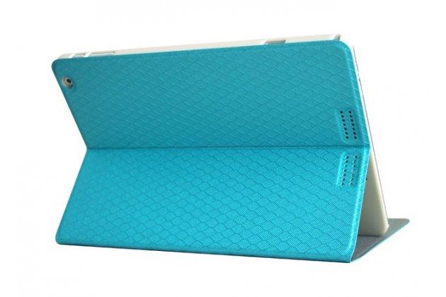 Фирменный чехол-футляр-книжка для Teclast X98 Air III/Teclast X98 Plus бирюзовый кожаный