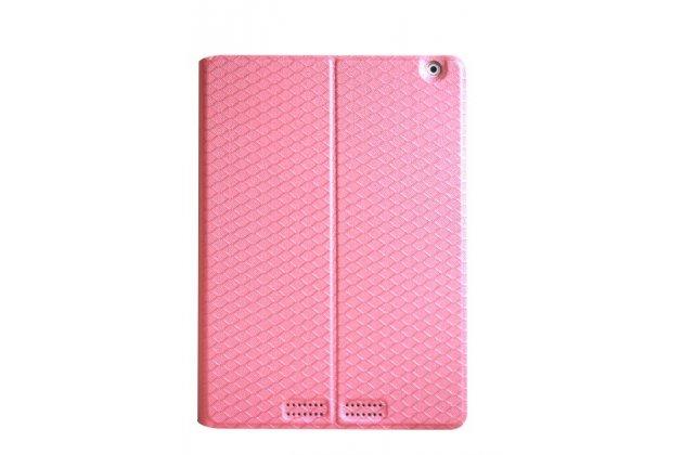 Фирменный чехол-футляр-книжка для Teclast X98 Air III/Teclast X98 Plus розовый кожаный