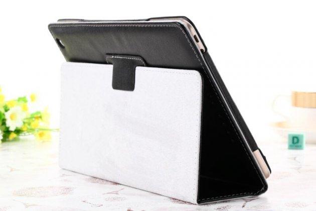Фирменный чехол-обложка с подставкой для Teclast X98 Air III/Teclast X98 Plus черный кожаный