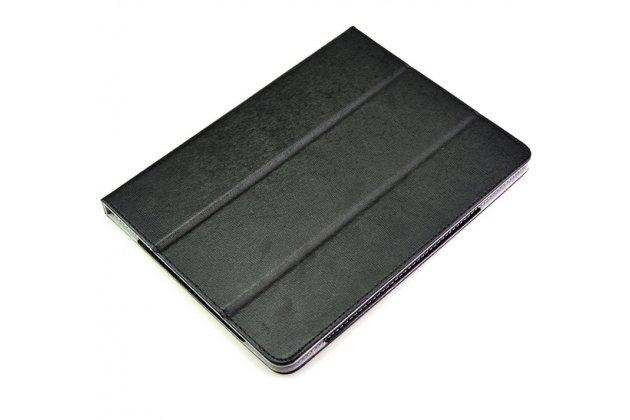 Фирменный чехол-футляр-книжка для Teclast X98 Plus 2 (II) черный кожаный
