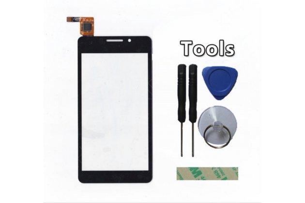 Фирменное сенсорное-стекло-тачскрин на TeXet TM-4677 черный + инструменты для вскрытия + гарантия