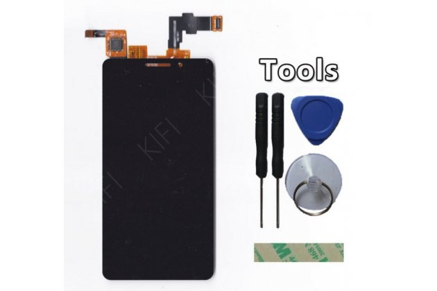 Фирменный LCD-ЖК-сенсорный дисплей-экран-стекло с тачскрином на телефон TeXet TM-4677 черный + гарантия