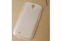 Фирменная ультра-тонкая полимерная из мягкого качественного силикона задняя панель-чехол-накладка для Ulefone U650 белая