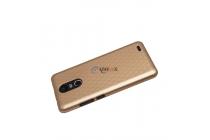 Фирменная ультра-тонкая пластиковая задняя панель-чехол-накладка для Ulefone Tiger золотая