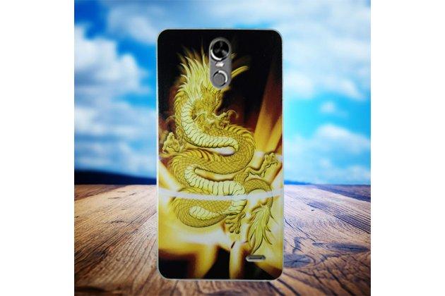 Фирменная роскошная задняя панель-чехол-накладка из мягкого силикона с объемным  3D изображением  на Ulefone Tiger с безумно красивым рисунком тематика Китайский Дракон