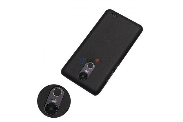Фирменная ультра-тонкая пластиковая задняя панель-чехол-накладка для Ulefone Tiger черная